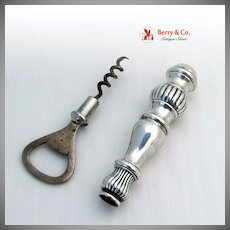 Sterling Silver Bottle Opener and Cork Screw Bar Items