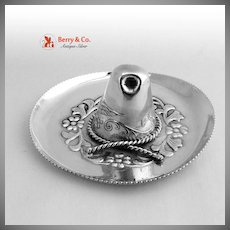 Sombrero Dish Mexican Sterling Silver 1970