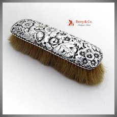 Repousse Clothes Brush Sterling Silver Gorham Silversmiths