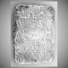 Calling Card Case Ann H Wood Coin Silver 1850 Leonard & Wilson