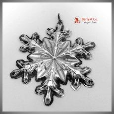 Christmas Snowflake Ornament Gorham Sterling Silver 1973