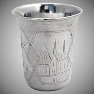 Russian Large Vodka Cup 84 Standard Silver 1910