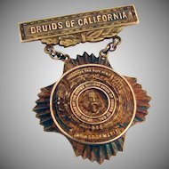 Druids of California 10K Gold Award or Merit 1920