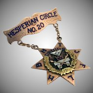 Druids of California Hesperian Circle 20 Multicolored 14K Gold Diamond  Medal 1927