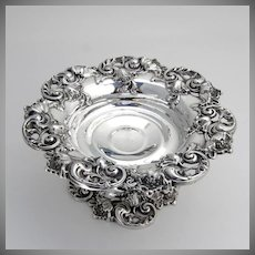 Ornate Compote High Relief Decorations Sterling Silver Woodside 1920