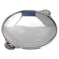 Small Dish Shell Handles Sterling Silver Georg Jensen 1950