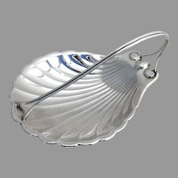 Arts and Crafts Shell Dish Sterling Silver 1940 No Monogram