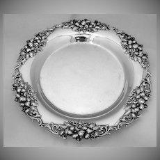 Cherry Blossom Round Plate Frank Smith 1890 Sterling Silver