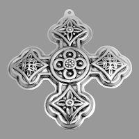 Christmas Cross Ornament Sterling Silver Reed and Barton 1971