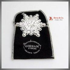 Christmas Ornament Snowflake Sterling Silver Gorham 1971