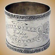 Coin Silver napkin Ring 1875