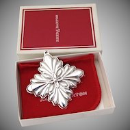 Christmas Ornament Snowflake Cross Sterling Silver Reed and Barton 1988