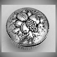 Snuff Pill Box Fruit Basket 800 German Silver Hanau 1890