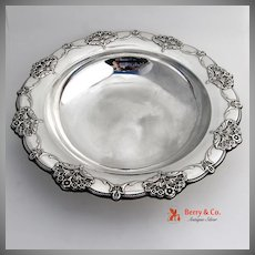 Queen`s Lace Vegetable Serving Bowl Sterling Silver International  1949