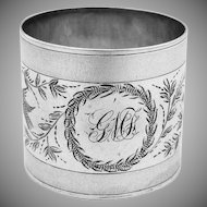 Napkin Ring Sterling Silver 1875