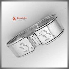 Art Deco Napkin Ring Scandinavian 830 Silver 1930