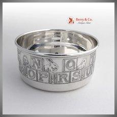 Alphabet Baby Bowl Lebkuecher Sterling Silver 1909