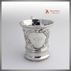 Chased Cup Mug Sterling Silver Rait 1830