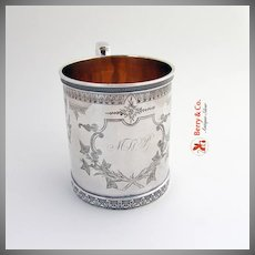 Aesthetic Cup Mug Kidney Cann and Johnson Coin Silver 1863