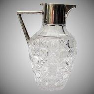 Pitcher Sterling Silver Cut Glass Birmingham