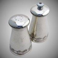 Chantilly Salt Shaker and Pepper Grinder Sterling Silver Gorham 1950