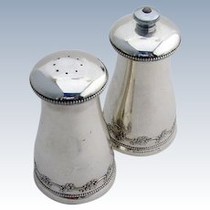 Chantilly Salt Shaker and Pepper Grinder Sterling Silver Gorham 1950