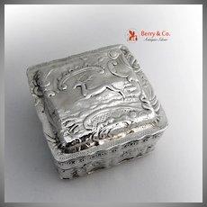 Box Live Stock Sterling Silver Dutch 1899