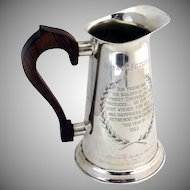 Water Pitcher Sterling Silver Stieff 1960