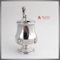 Medallion Mustard Pot Sterling Silver Gorham 1870