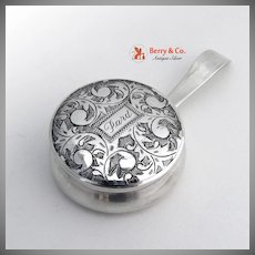 Pill Box Sterling Silver With Handle 1920