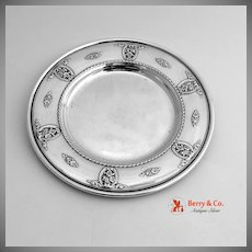 Rose Point Bread Plate Sterling Silver Wallace 1934