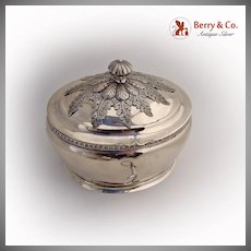 Sugar Box Lock Key German 12 Loth Silver 1870