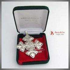 Christmas Ornament Snowflake Cross Sterling Silver Reed and Barton 1997