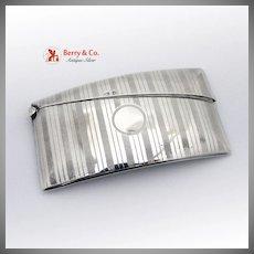 Match Safe Vesta Case England Sterling Silver Engraved 1910
