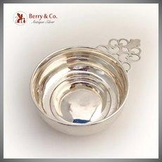 Porringer Bowl Openwork Handle Watson Sterling Silver 1905 - 1929