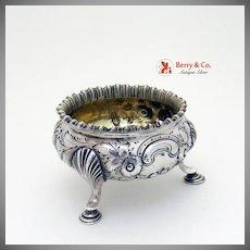 Open Salt Dish Coin Silver Repousse 1870