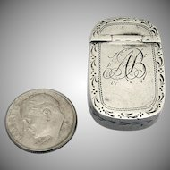 Georgian Small Snuff Box England Sterling Silver 1796
