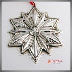 Christmas Ornament 1993 Snowflake Sterling Silver Gorham