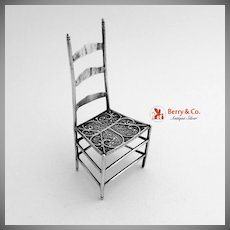 Sterling Silver Miniature Chair 1900