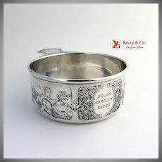 Sterling Silver Nursery Rhyme Porringer W.Kerr