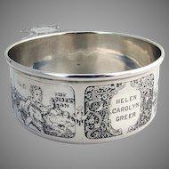 Sterling Silver Nursery Rhyme Porringer W.Kerr