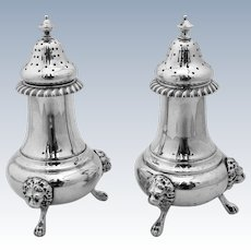 Sterling Silver Salt And Pepper Shakers Gorham 1930