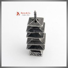 Sterling Silver Miniature Pagoda Shaker 1930