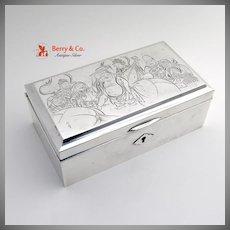 Japanese Sterling Silver Dresser Box