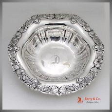 Sterling Silver Art Nouveau Serving Bowl Unger Brothers