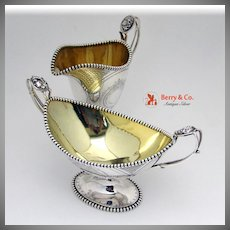 Medallion Sterling Silver Creamer And Sugar Bowl Krider
