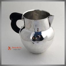 W. Spratling Sterling Silver Water Pitcher Rosewood 1940