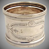 Napkin Ring Coin Silver 1890