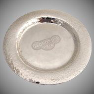 Arts and Crafts Dorothy Plate Unger Brothers Sterling Silver