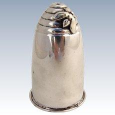 Beehive Salt Shaker 1940 Sterling Silver